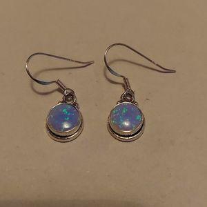Fire opal earrings 925